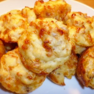 Cheese sausage muffins