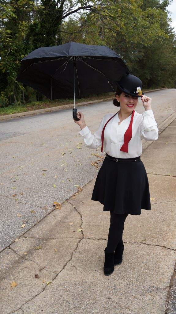 A simple classic Mary Poppins Halloween Costume